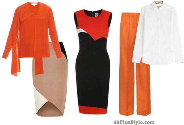 How to wear orange 7 color combinations to get you for What color shirt goes with a purple skirt