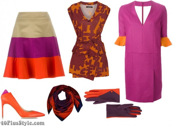 Orange Purple Contrast
