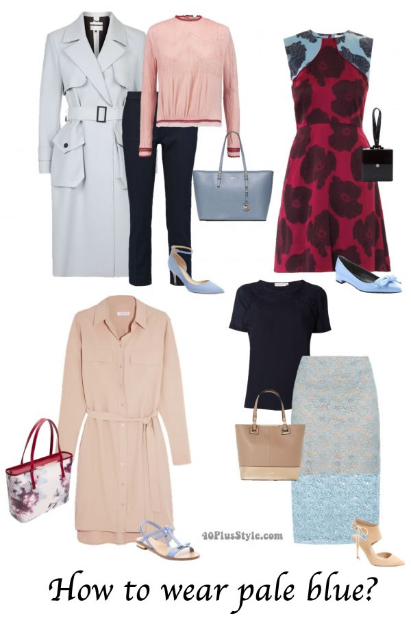 How to wear pale blue   40plusstyle.com