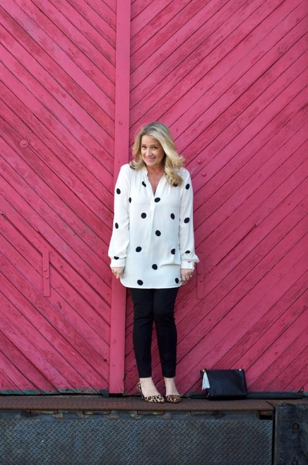 polka dot leopard print flats | 40plusstyle.com