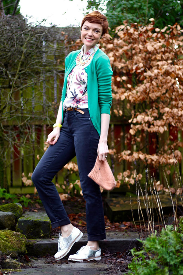 Casual Cardigan Outfit Fake Fabulous | 40plusstyle.com