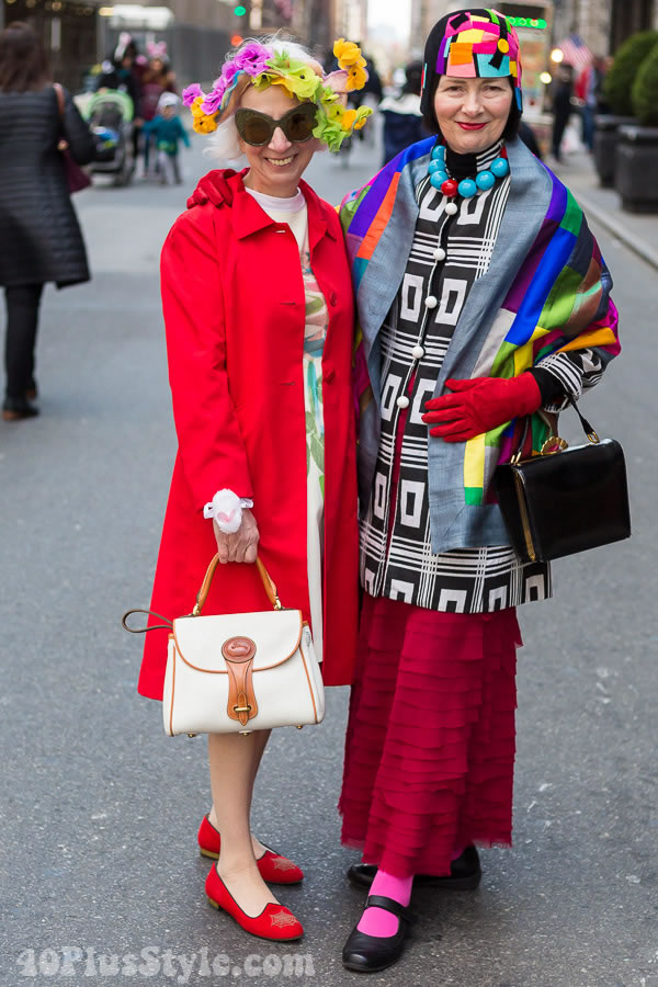 Colorful and beautiful style from the 2016 Easter Parade! | 40plusstyle.com