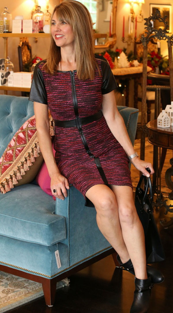 Edgy dress outfit with Susan Kanoff Style Interview | 40plusstyle.com