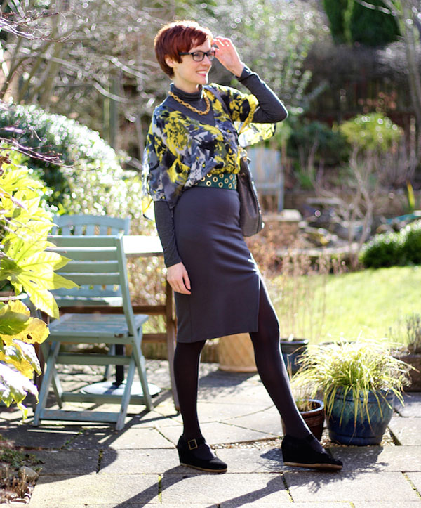 Pencil skirt Fake Fabulous style interview| 40plusstyle.com