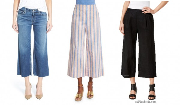 cropped wide leg pants length | 40plusstyle.com
