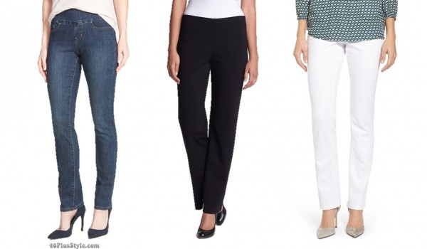 straight leg pants jeans hem length   40plusstyle.com