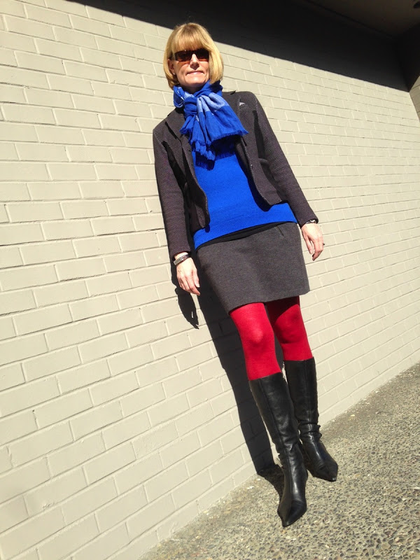 Color blocking outfit Andreas Wellness | 40plusstyle.com