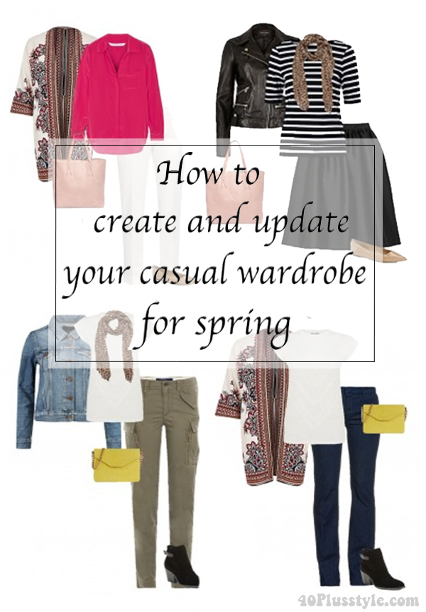 How to create and update your casual wardrobe for spring | 40plusstyle.com