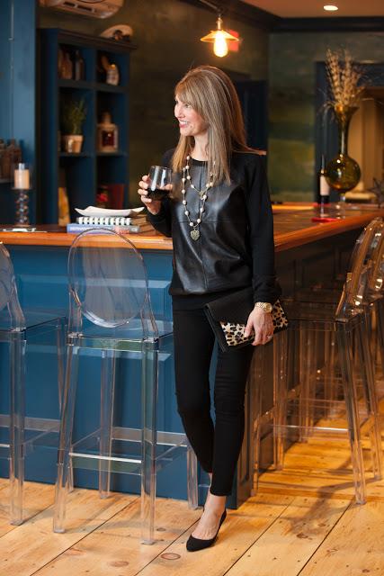 leather sweatshirt | 40plusstyle.com