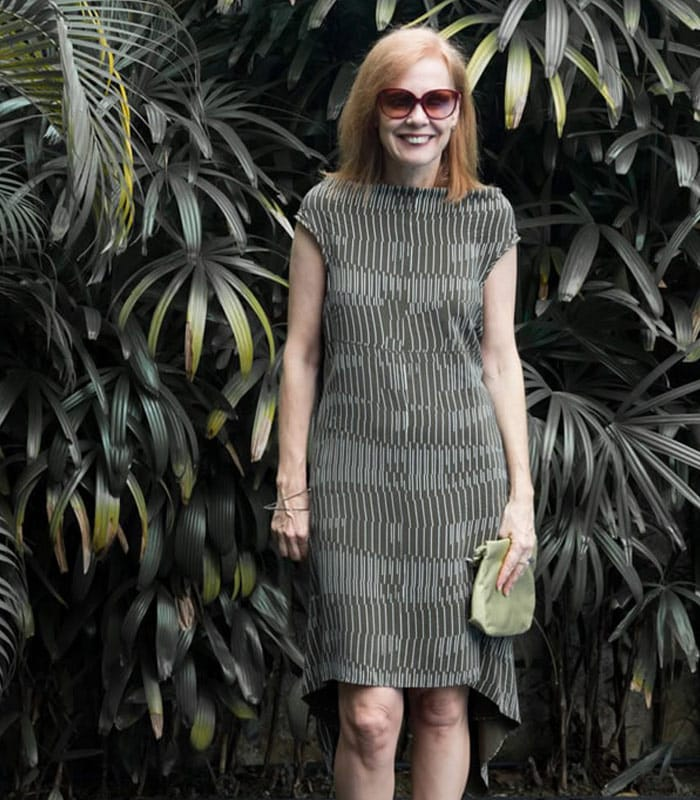 Blending into the landscape with a dress | 40plusstyle.com