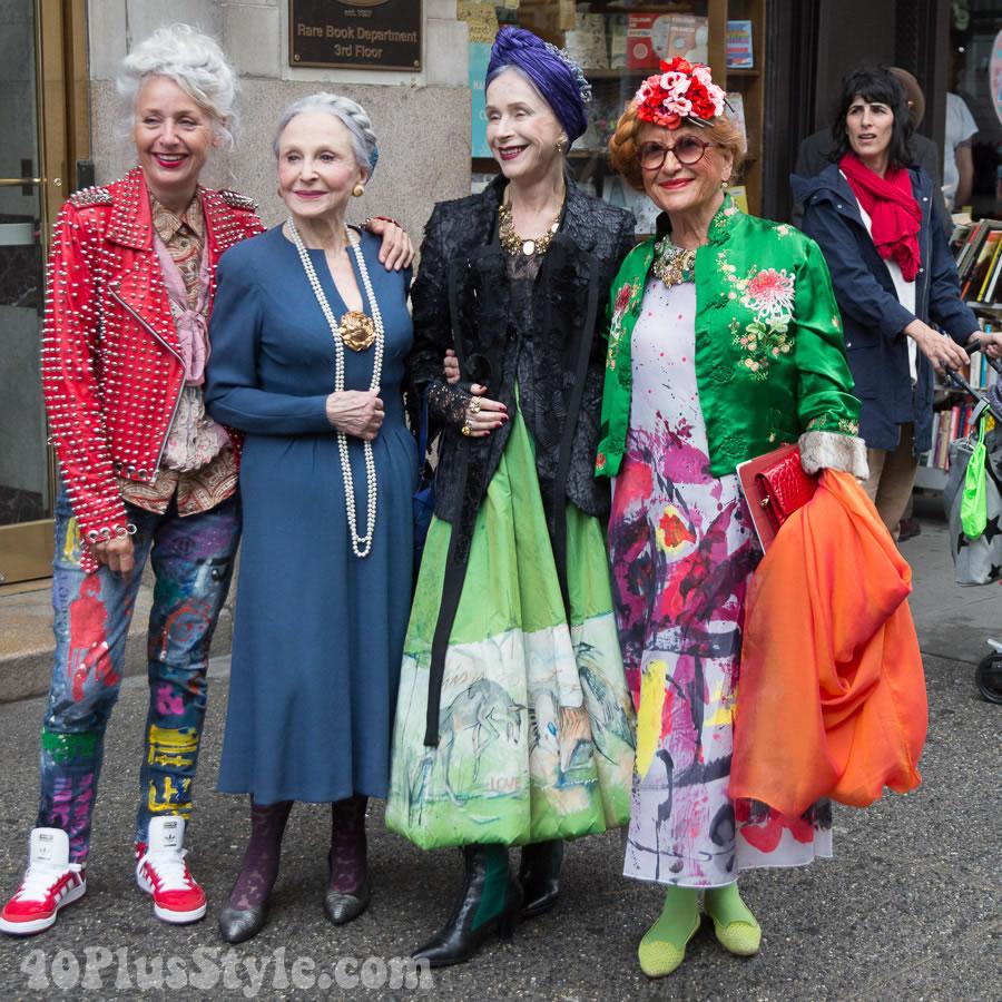 Streetsyle: Sarah-Jane Adams, Joyce Carpati, Beatrix Ost, and Magda | 40plusstyle.com