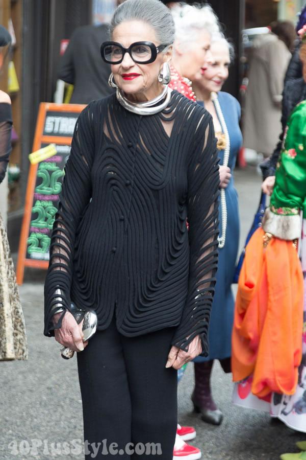 Joy Venturini Bianchi statement accessories | 40plusstyle.com