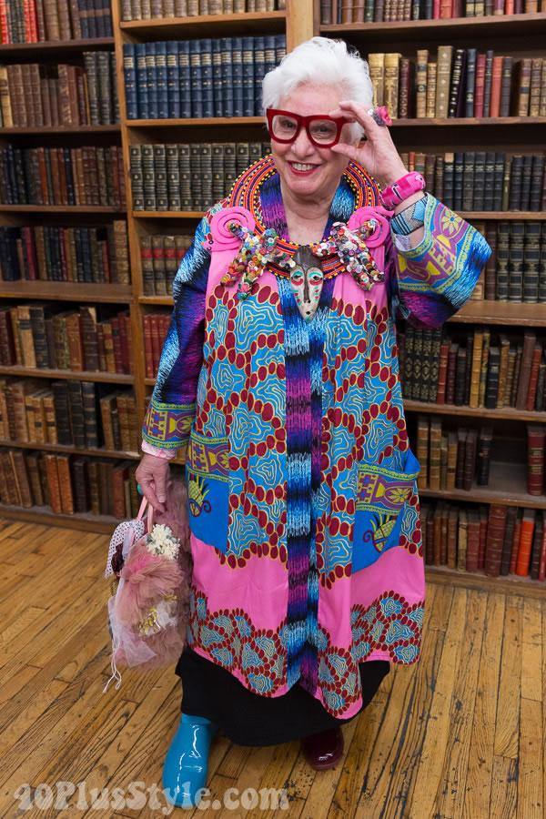 Sue Kreitzman's beautiful colorful style | 40plusstyle.com
