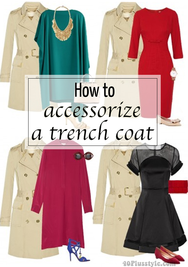 How to wear and accessorize a trench coat | 40plusstyle.com