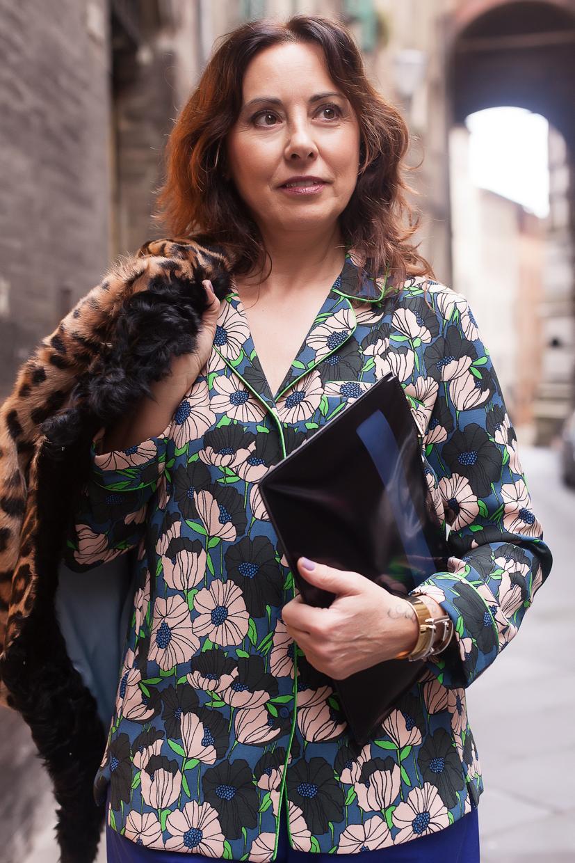 floral blouse | 40plusstyle.com
