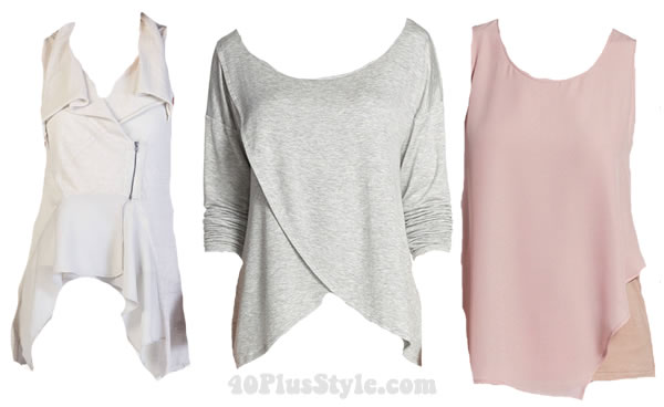 Styling asymmetrica tops | 40plusstyle.com