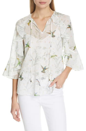 chiffon blouse - perfect for hiding arms | 40plusstyle.com
