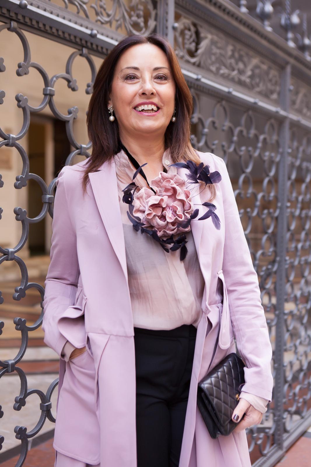 light pink coat | 40plusstyle.com