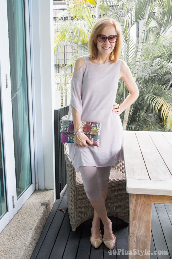Pretty in pink + register for the free 40+Style casual style challenge!