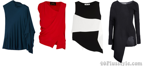 Asymmetrical tops on sale | 40plusstyle.com