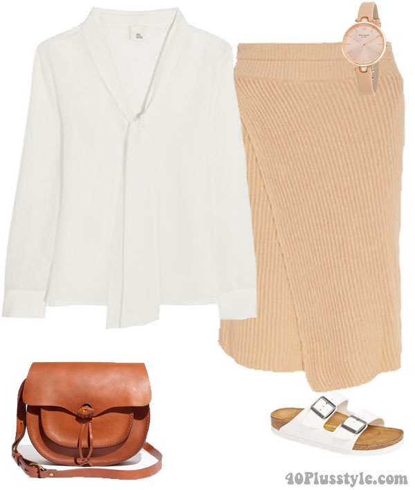 How to wear white shoes with neautrals and pastels | 40plusstyle.com