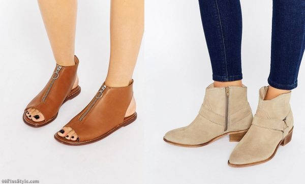 ankle flats booties sandals | 40plusstyle.com