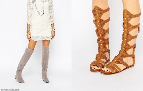 knee high over the knee gladiator boots sandals | 40plusstyle.com