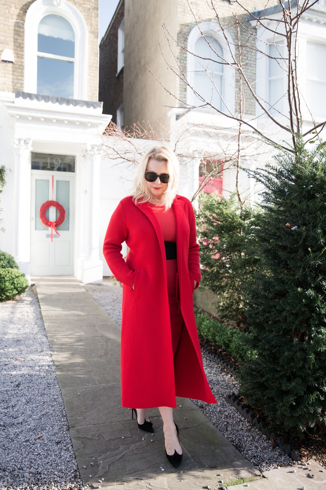 All red outfit | 40plusstyle.com