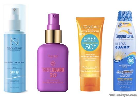 Sunscreen and beach wear tips | 40plusstyle.com