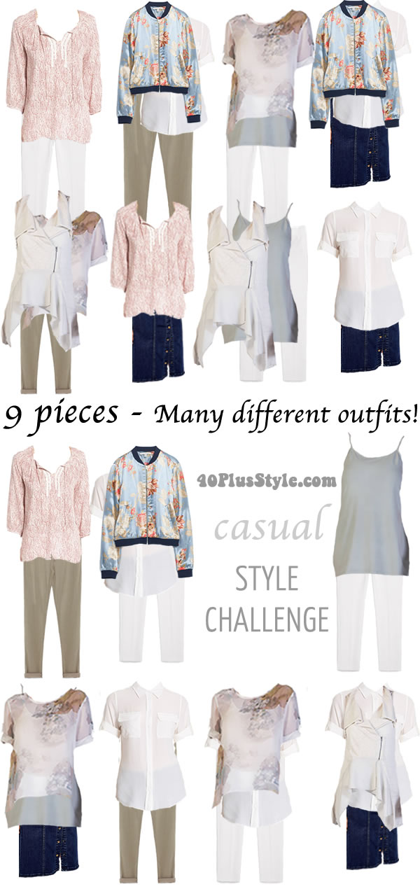 Casual Summer Style Challenge | 40plusstyle.com