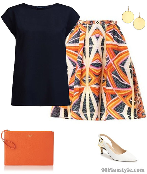 How to style white shoes with bold prints | 40plusstyle.com