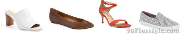 shoes ideas for the rectangular body type | 40plusstyle.com