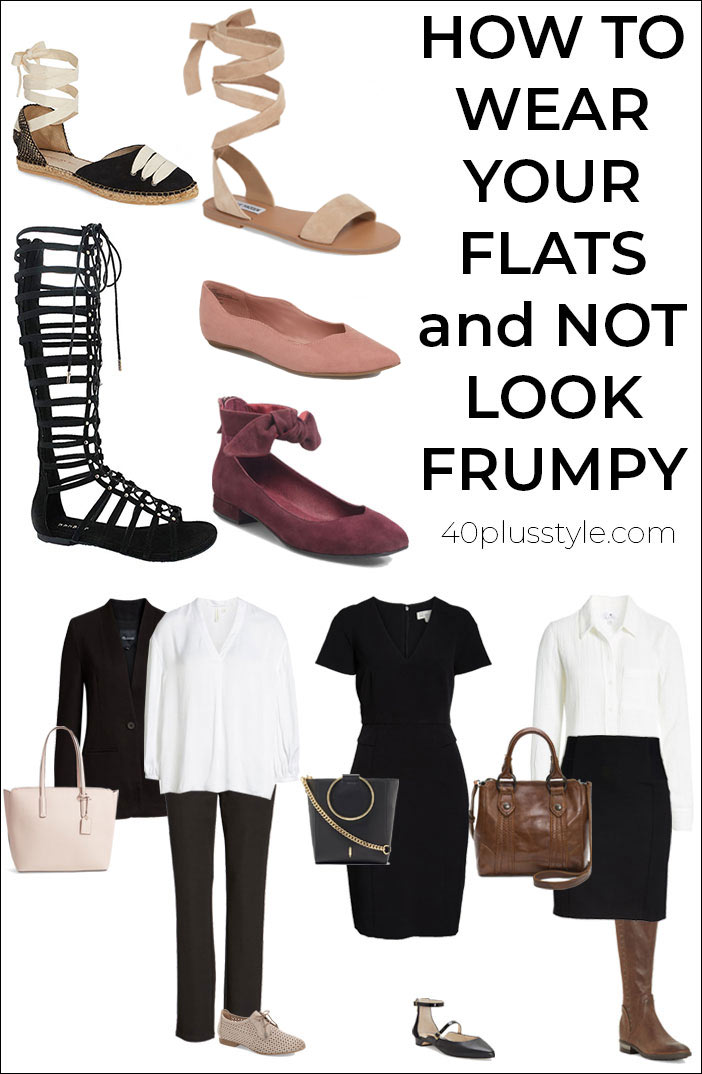how to wear flats and not look frumpy | 40plusstyle.com