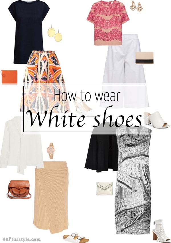 How to wear white shoes this summer | 40plusstyle.com