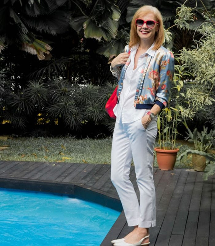 40+Style Casual Summer Style Challenge - look 10 - A white column of color | 40plusstyle.com