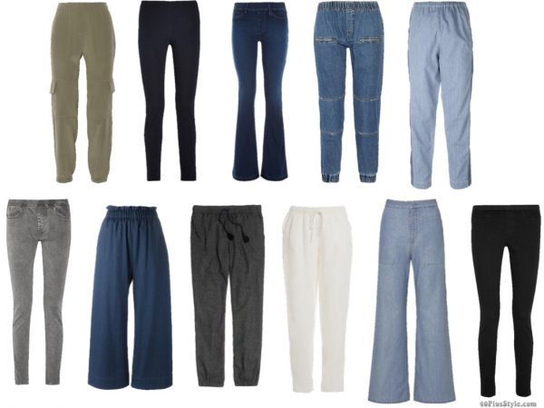 elastic waistband jeans pants comfortable | 40plusstyle.com