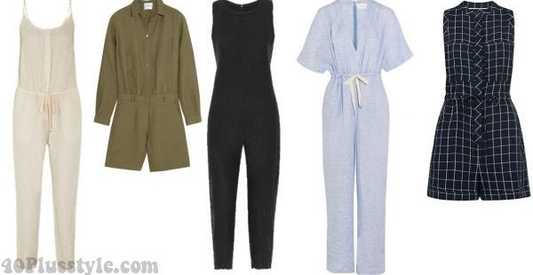 linen summer jumpsuits style cool | 40plusstyle.com