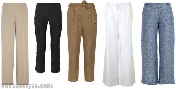summer stylish linen pants wide leg white   40plusstyle.com