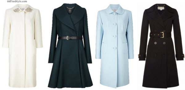 coats dress white flared Kate Middleton Duchess Cambridge | 40plusstyle.com