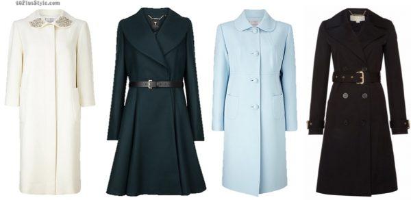 coats dress white flared Kate Middleton Duchess Cambridge | 40plusstyle.com