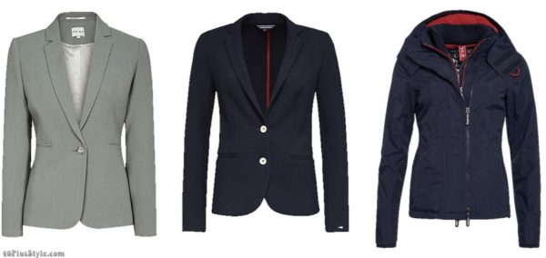 blazer blue blazer wind jacket nylon Kate Middleton Duchess Cambridge | 40plusstyle.com