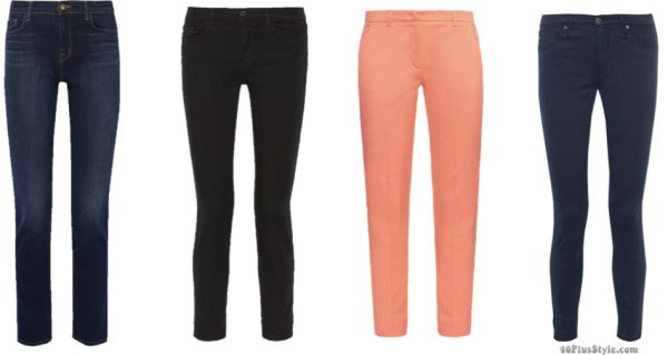 blue black pants jeans Kate Middleton Duchess Cambridge | 40plusstyle.com