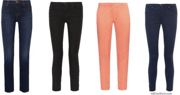 blue black pants jeans Kate Middleton Duchess Cambridge | 40plusstyle.com