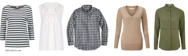 breton striped top white blouse gingham shirts Kate Middleton Duchess Cambridge | 40plusstyle.com