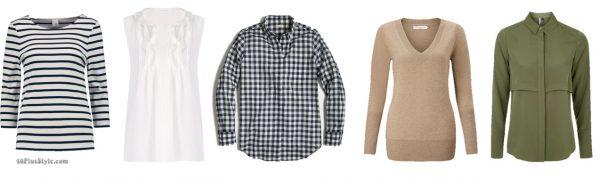breton striped top white blouse gingham shirts Kate Middleton Duchess Cambridge | 40plusstyle.com