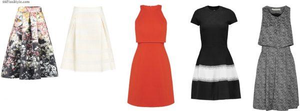 a-line dress skirt floral slimmer | 40plusstyle.com