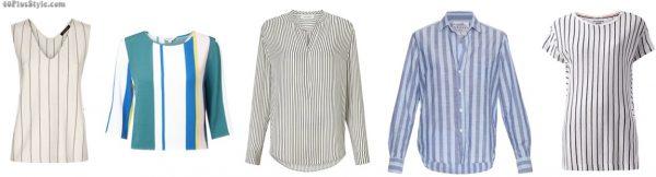vertical stripe top shirt chambray breton slimmer | 40plusstyle.com