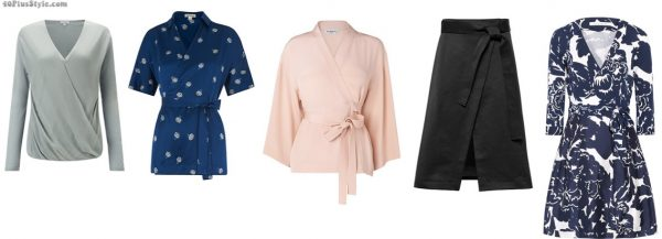 wrap blouse dress skirt dvf slimmer | 40plusstyle.com