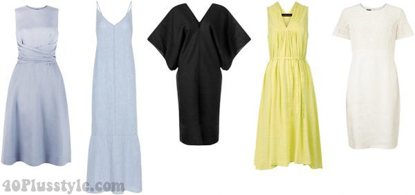 linen dresses stylish summer | 40plusstyle.com