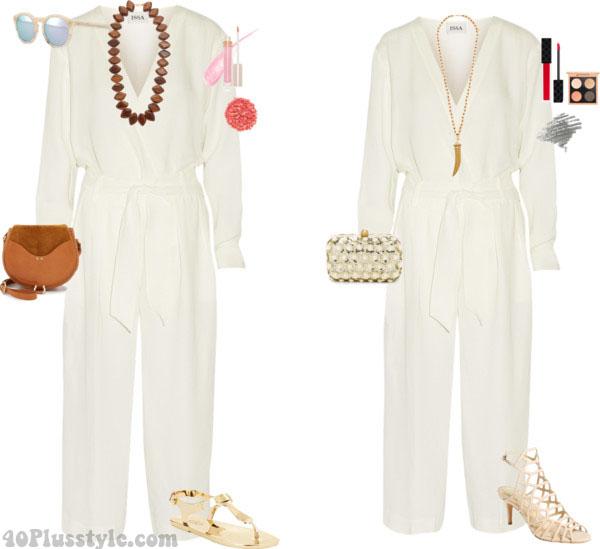 White romper: jumper look | 40plusstyle.com
